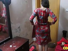 Indian Wife Sonia In Shalwar Suir Strips Naked Hardcore